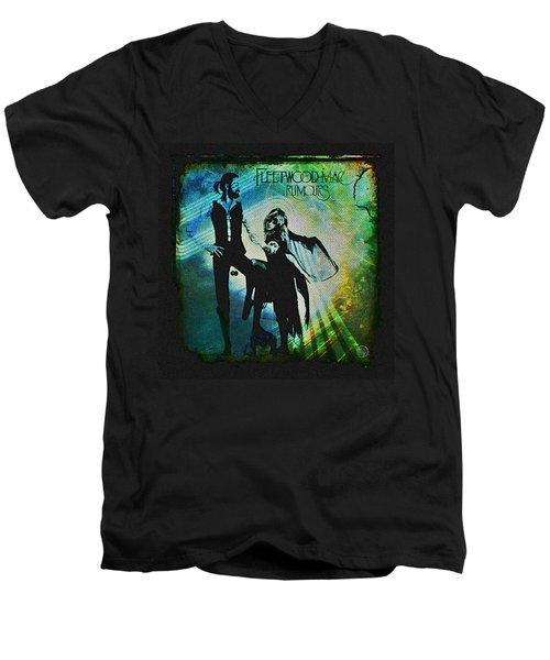 Fleetwood Mac - Cover Art Design Men's V-Neck T-Shirt by Absinthe Art By Michelle LeAnn Scott