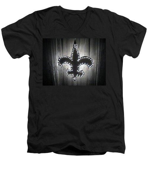 Fleur De Light Men's V-Neck T-Shirt by Deborah Lacoste