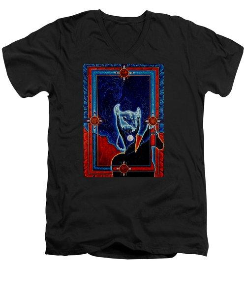 Flies Through The Sky Men's V-Neck T-Shirt
