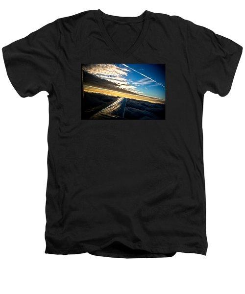 Flight 777 Men's V-Neck T-Shirt by Joel Loftus