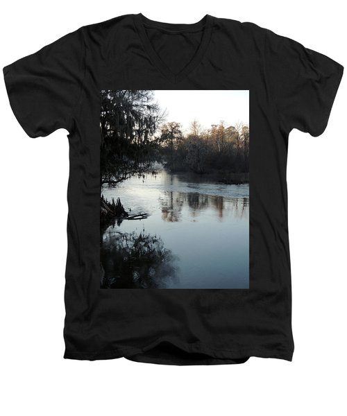 Men's V-Neck T-Shirt featuring the photograph Flint River 20 by Kim Pate