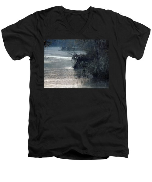 Men's V-Neck T-Shirt featuring the photograph Flint River 28 by Kim Pate