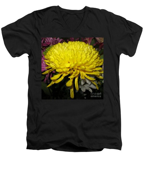 Yellow Queen. Beautiful Flowers Collection For Home Men's V-Neck T-Shirt