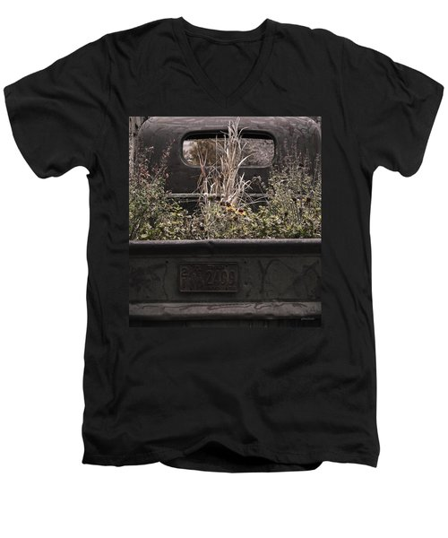 Flower Bed - Nature And Machine Men's V-Neck T-Shirt