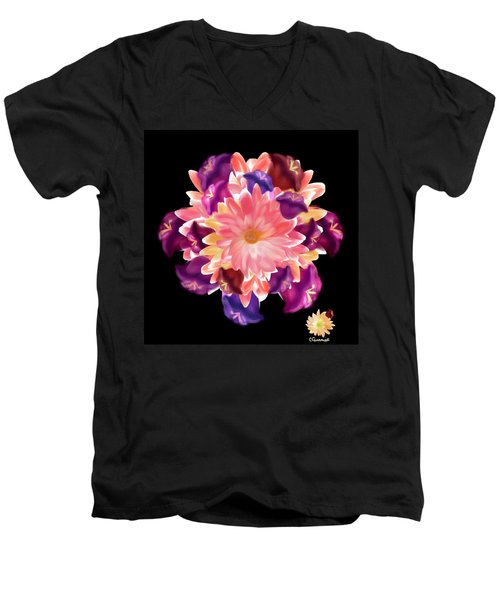Flower Circle Men's V-Neck T-Shirt