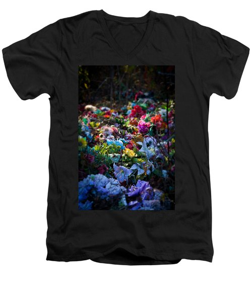 Flower Graveyard Men's V-Neck T-Shirt