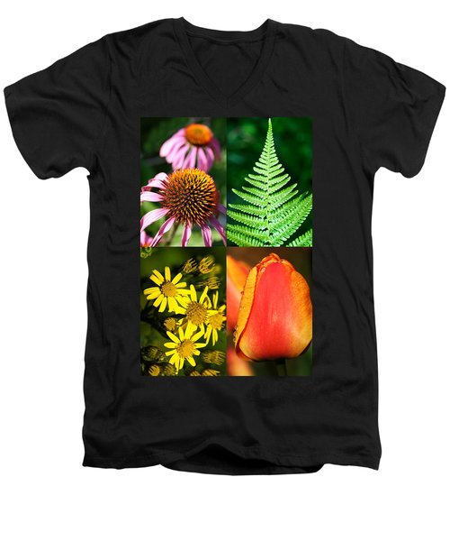 Flower Photo 4 Way Men's V-Neck T-Shirt