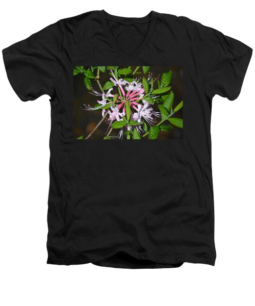 Men's V-Neck T-Shirt featuring the photograph Flower Wheel by Tara Potts