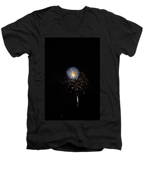Flowering Burst Men's V-Neck T-Shirt