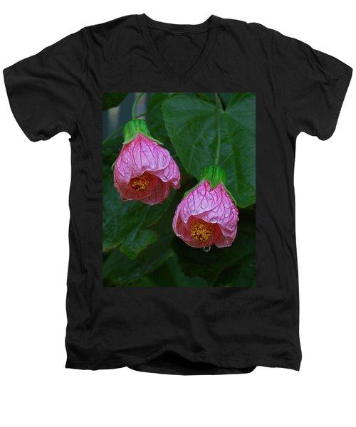 Flowering Maple Men's V-Neck T-Shirt