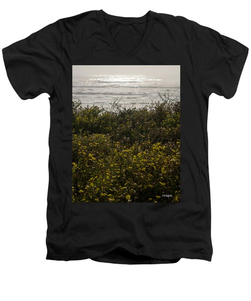 Flowers And The Sea Men's V-Neck T-Shirt
