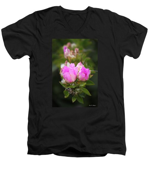 Men's V-Neck T-Shirt featuring the photograph Flowers For You by Amy Gallagher