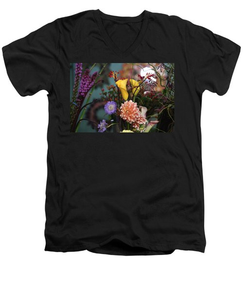 Flowers From My Window Men's V-Neck T-Shirt