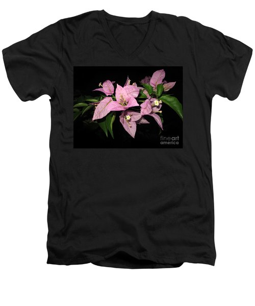 Men's V-Neck T-Shirt featuring the photograph Flowers Island Lembongan by Sergey Lukashin