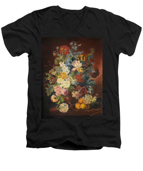 Flowers Of Light Men's V-Neck T-Shirt