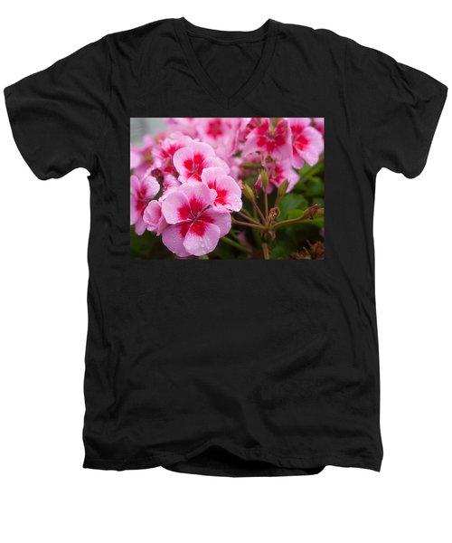 Flowers On A Rainy Sunday Afternoon Men's V-Neck T-Shirt