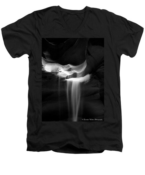 Flowing Sand In Antelope Canyon Men's V-Neck T-Shirt