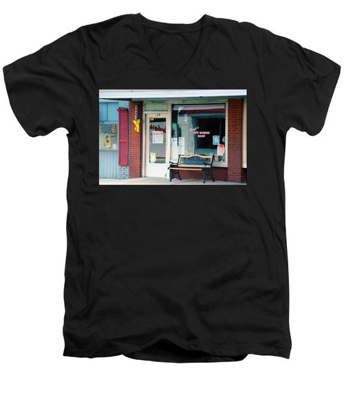 Floyd's Barber Shop Nc Men's V-Neck T-Shirt