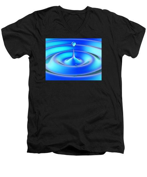 Fluidum 1 Men's V-Neck T-Shirt by Andreas Thust