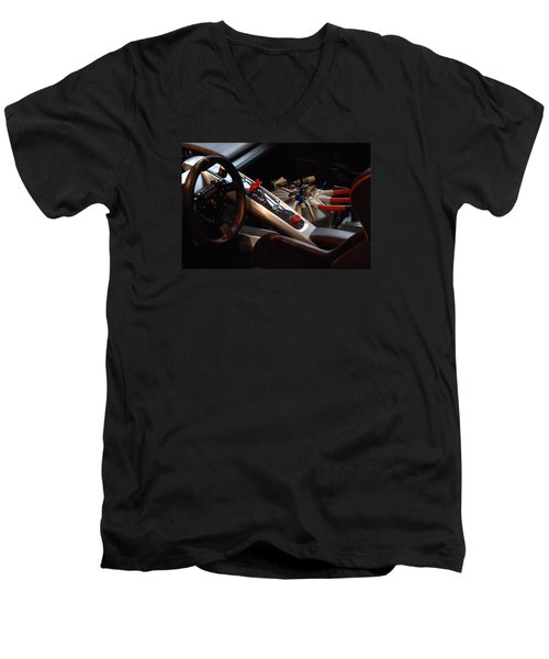 Men's V-Neck T-Shirt featuring the photograph Flux Capacitor by John Schneider
