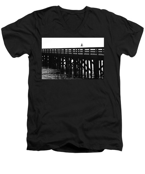 Men's V-Neck T-Shirt featuring the photograph Fly Away by Sonya Lang