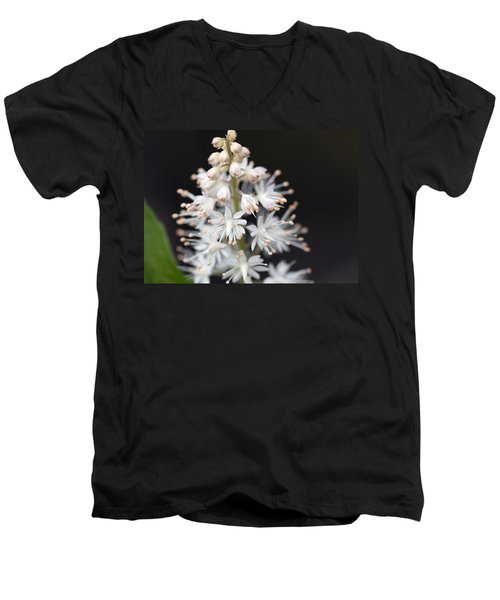 Foam Flower Men's V-Neck T-Shirt by Melinda Fawver