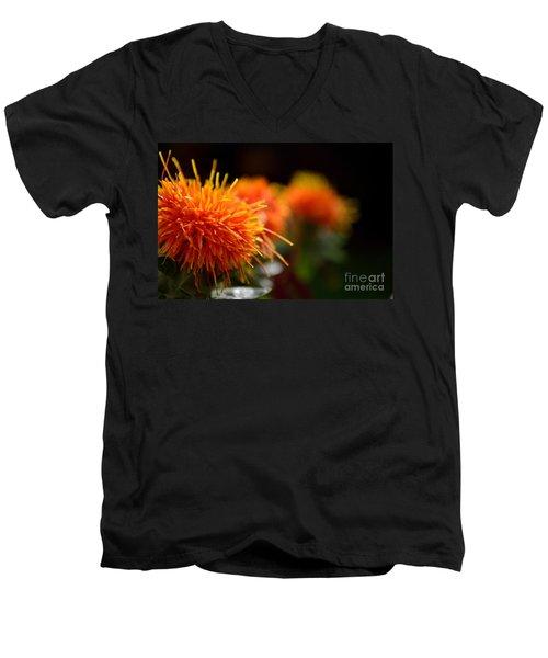 Focused Safflower Men's V-Neck T-Shirt