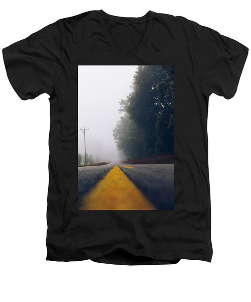 Fog On Highway Men's V-Neck T-Shirt