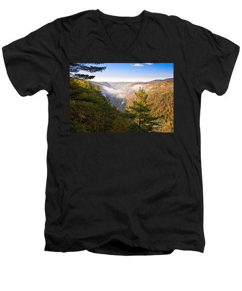 Fog Over The Canyon Men's V-Neck T-Shirt