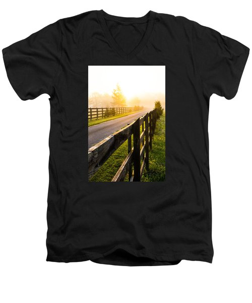 Foggy Morning Men's V-Neck T-Shirt by Shelby  Young