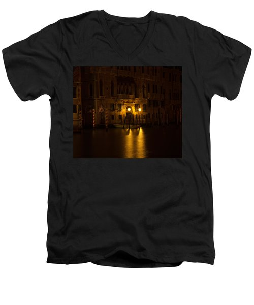 Follow Me Across The Water And Time Men's V-Neck T-Shirt by Alex Lapidus