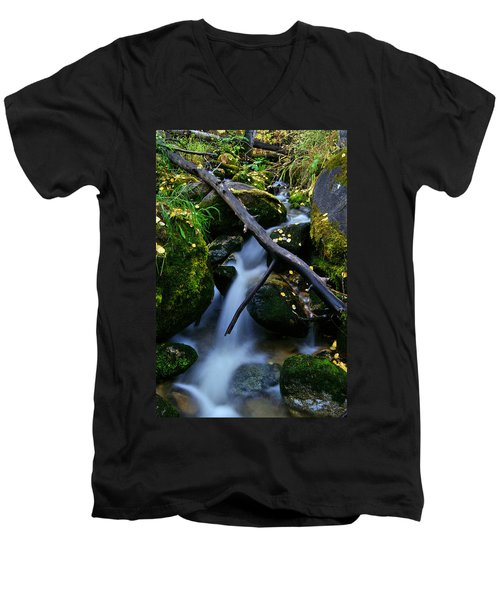 Men's V-Neck T-Shirt featuring the photograph Follow Me by Jeremy Rhoades