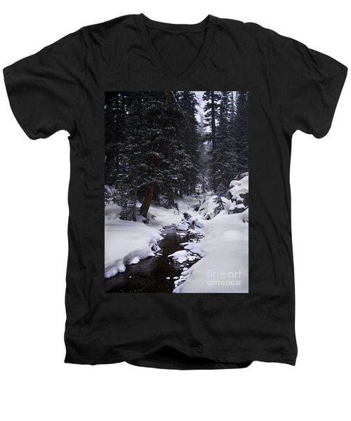 Follow The Creek Men's V-Neck T-Shirt
