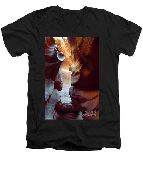 Follow The Light II Men's V-Neck T-Shirt by Kathy McClure