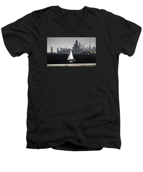 Follow Your Dream Men's V-Neck T-Shirt by Milena Ilieva