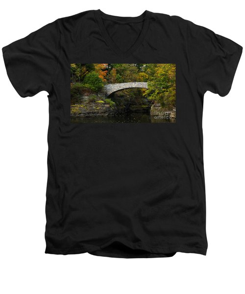 Foot Bridge At Beebe Lake Men's V-Neck T-Shirt