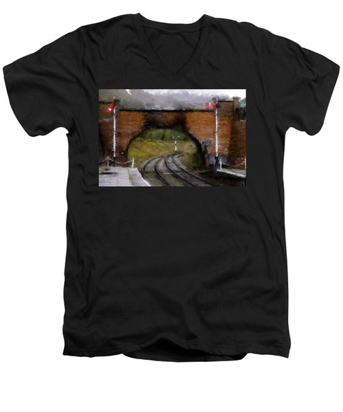 Foot Bridge. Men's V-Neck T-Shirt