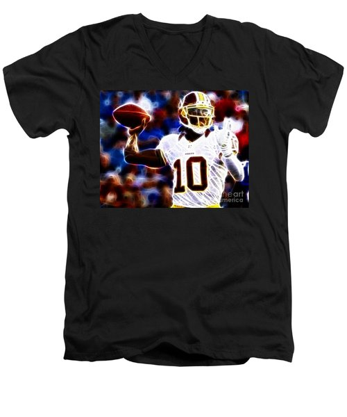Football - Rg3 - Robert Griffin IIi Men's V-Neck T-Shirt