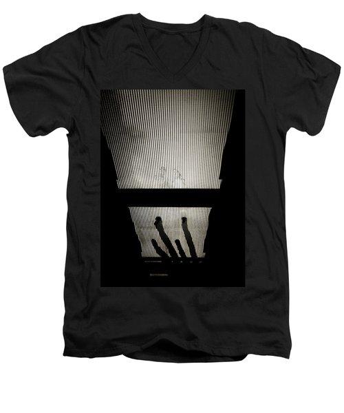 Footsteps And Faces Men's V-Neck T-Shirt