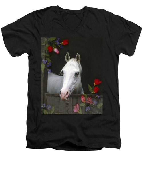For The Roses Men's V-Neck T-Shirt
