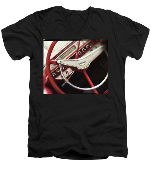 Men's V-Neck T-Shirt featuring the photograph Ford Sunliner by Bradley R Youngberg
