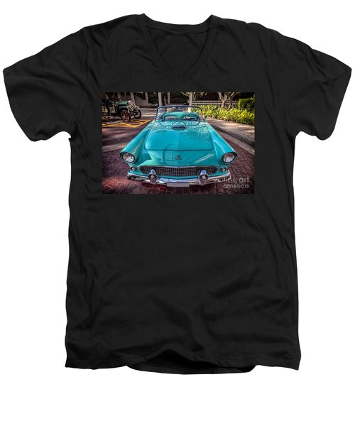 Ford Thunderbird  Men's V-Neck T-Shirt by Adrian Evans