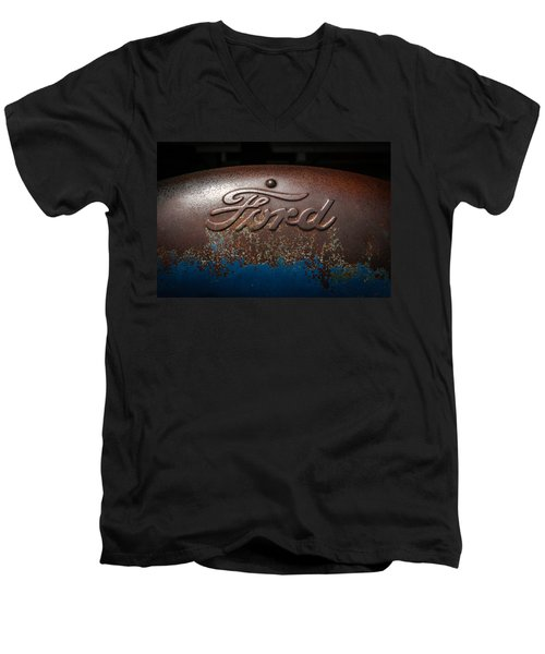 Ford Tractor Logo Men's V-Neck T-Shirt