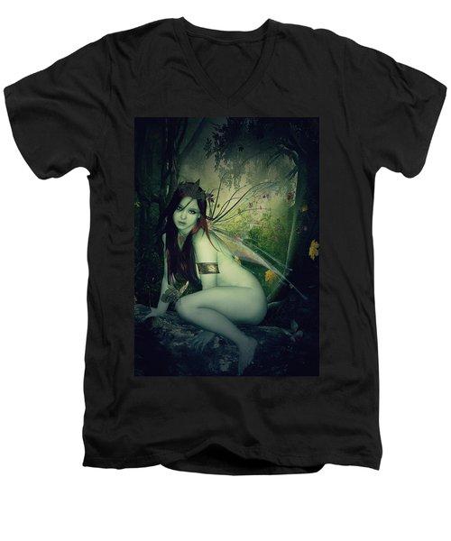 Forest Fairy Men's V-Neck T-Shirt