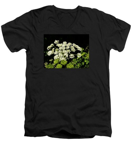 Men's V-Neck T-Shirt featuring the photograph Forest Lace by VLee Watson