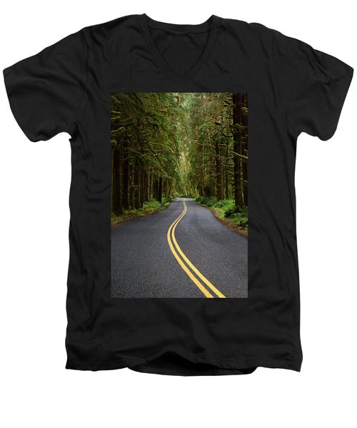 Forest Road Men's V-Neck T-Shirt by David Andersen