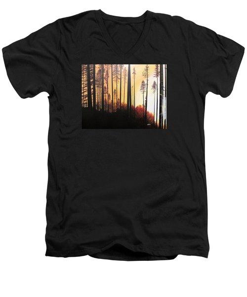 Forest Sunrise Men's V-Neck T-Shirt