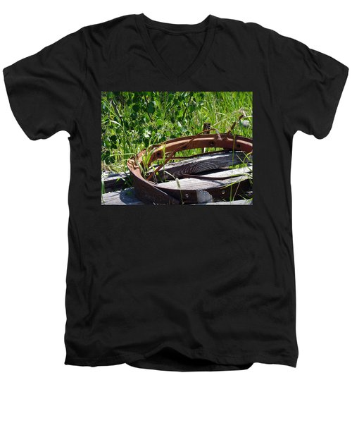 Men's V-Neck T-Shirt featuring the photograph Forest Takeover by Meghan at FireBonnet Art