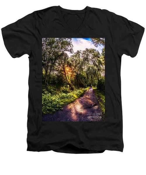 Forest Track Men's V-Neck T-Shirt