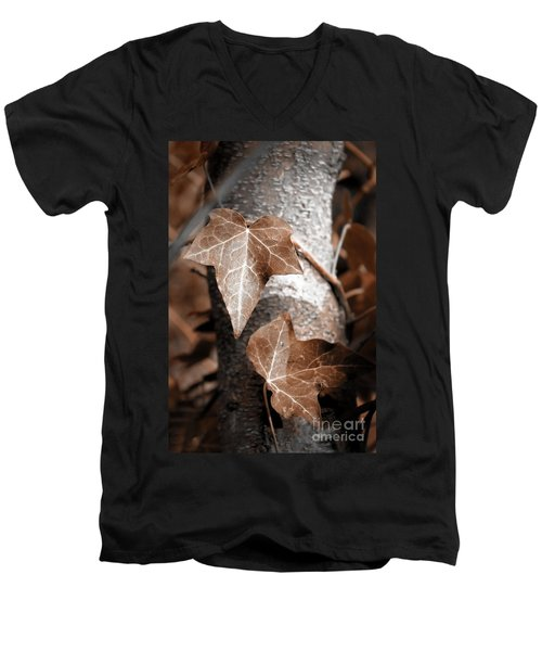 Men's V-Neck T-Shirt featuring the photograph Forever Entwined by Ellen Cotton
